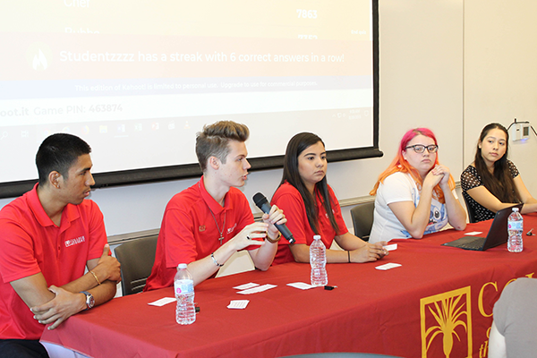 College of the Desert student panel answered questions and offered comments from the student prospective on how best the Guided Pathways program can assist students.