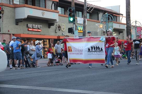 Students marching in the Veterans Day parade in Palm Springs