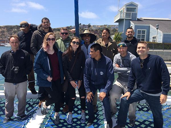 Group photo of Veteran Students on Catamaran Trip