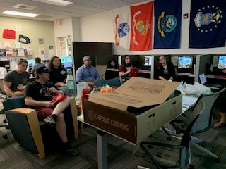 Students attending a financial literacy workshop in the COD Veterans Center