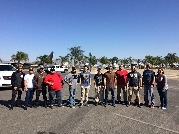 Group picture of COD Veterans at the March Air Base Museum